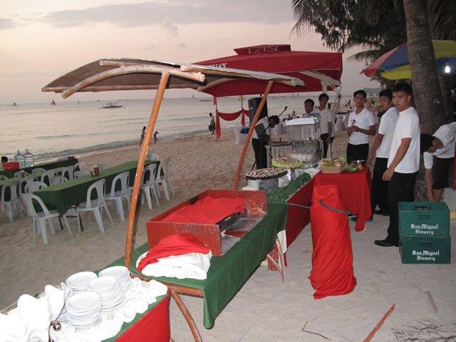 Boracay Brabecue on the beach